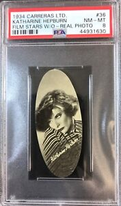 1934-Carreras-Film-Stars-W-O-Real-Photos-36-KATHERINE-HEPBURN-PSA-8-NM-MT