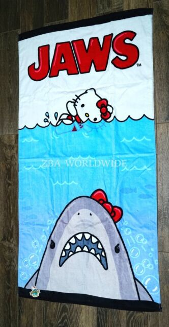 New Universal Studios Hello Kitty Jaws Movie Poster 30 X 60 Beach Towel
