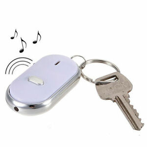 Newly LED Key Finder Locator Find Lost Keys Chain Keychain Whistle Sound Control