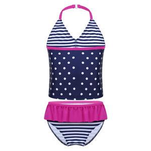2PCS-Children-Girls-Bathing-Suit-Set-Swimwear-Swimsuit-Summer-Beachwear-Tankini