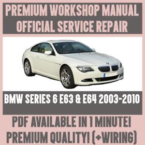 workshop manual service repair guide for bmw e63 e64 2003 2010 rh ebay com Motorcycle Workshop Manuals BMW 3 Series