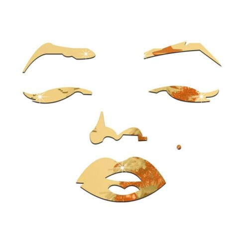 Adesivos De Parede Marilyn Monroe Casa Acrílico Espelhado Decorativo Acrílico Impermeável