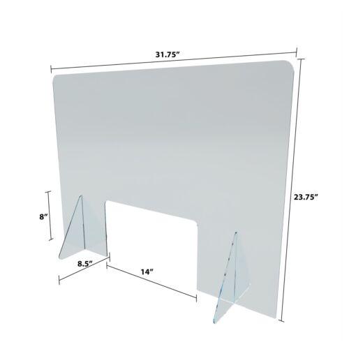 Desktop Retail Office Acrylic Plexiglass Barrier Counter Sneeze Guard