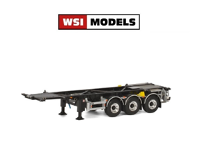 WSI 03-1148 Container Chassis for Swapbody 3 Axle 1 50 Scale