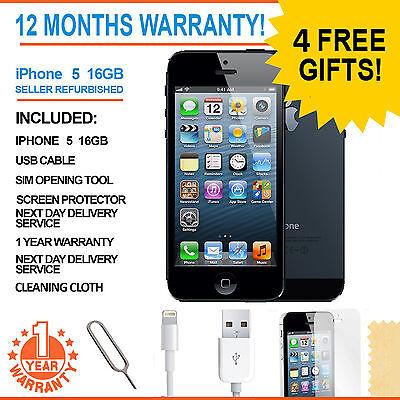 Apple iPhone 5 - 16 GB - Black & Slate (Factory Unlocked) Smartphone