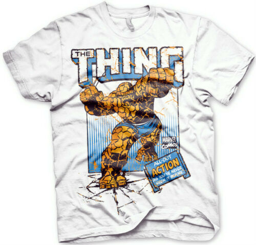 MARVEL THE THING Action  T-Shirt  camiseta cotton officially licensed