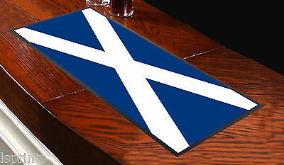 SCOTLAND FLAG SCOTTISH BAR RUNNER IDEAL FOR HOME COCKTAIL PARTY BAR MAT PUB