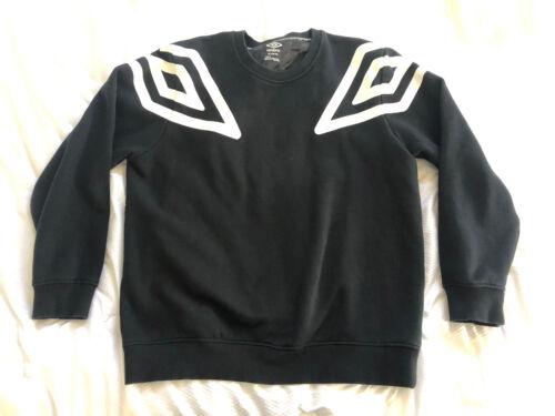 Umbro Big Logo Sweatshirt Shoulder Logo Jumper Bla