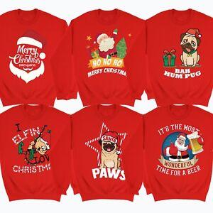 Christmas-Novelty-Jumpers-Funny-Rude-Santa-Reindeer-Elf-Beer-Xmas-Top-Sweater