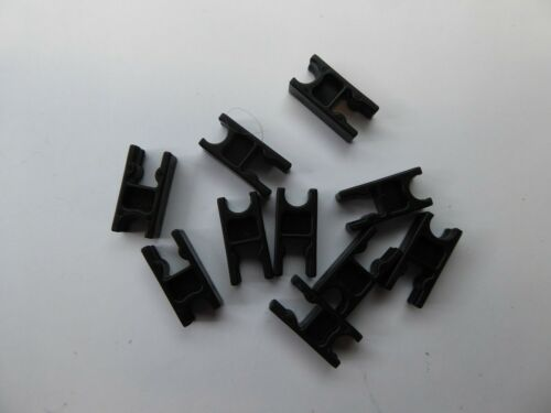 Lot of 10 Black Clips Connectors KNEX Spare Parts