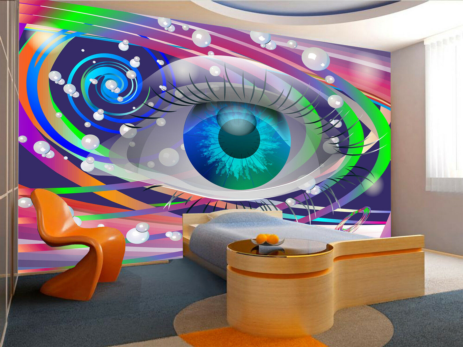 Space Eye Wall Mural Photo Wallpaper GIANT DECOR Paper Poster Free Paste