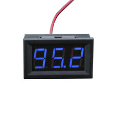 1x Mini DC 5-120v Voltage Volt Meter Voltmeter Blue LED Panel 3-digital Display