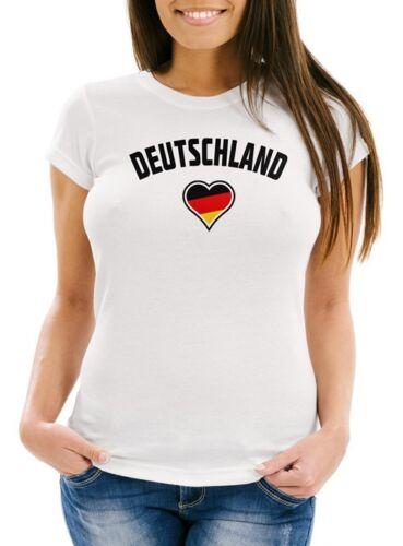 Germania Cuore Da Donna Calcio WM 2018 T-Shirt WM neverless ®