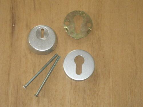 2.Wahl Schutzrosette Alu F1 Zylinderabdeckung  Ziehschutz mit Gegenrosette