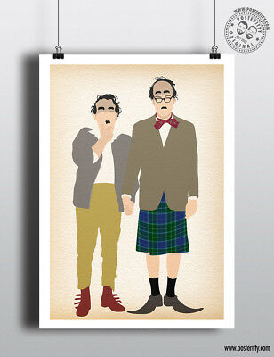 VIC /& BOB Reeves /& Mortimer Minimalist Movie Poster Posteritty Style Comedy Art