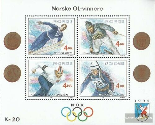 Norway block16 complete issue unmounted mint never hinged 1991 Winter Olympi