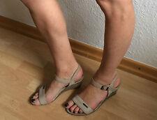 ❤️ ESPRIT Keil-Sandaletten 38 gebraucht barfuß getragen Sammler Kenner