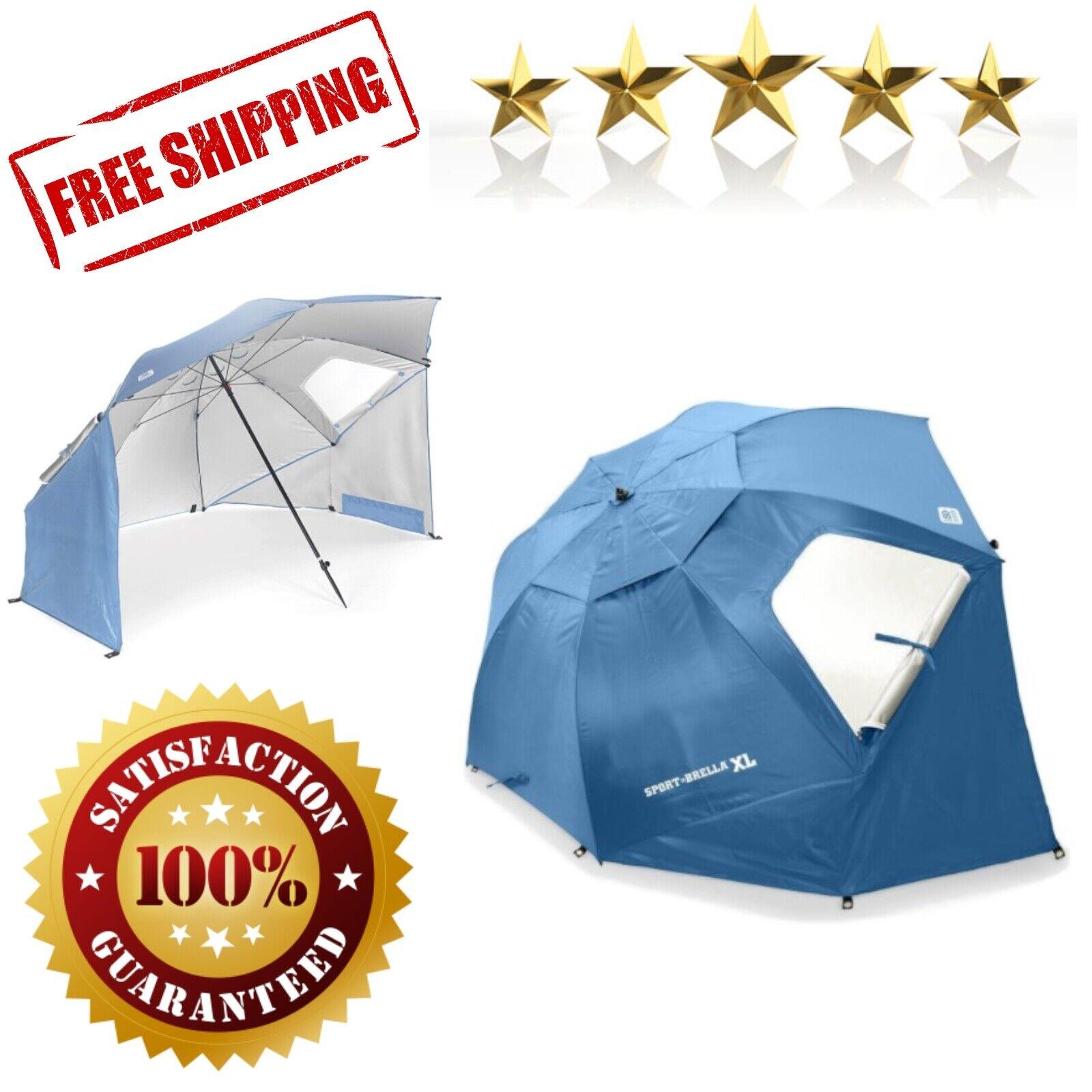Sport-Brella XL Vented SPF 50 Sun and Rain Canopy Umbrella for Beach and Sports