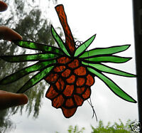 Stained Glass PineCone window hanging