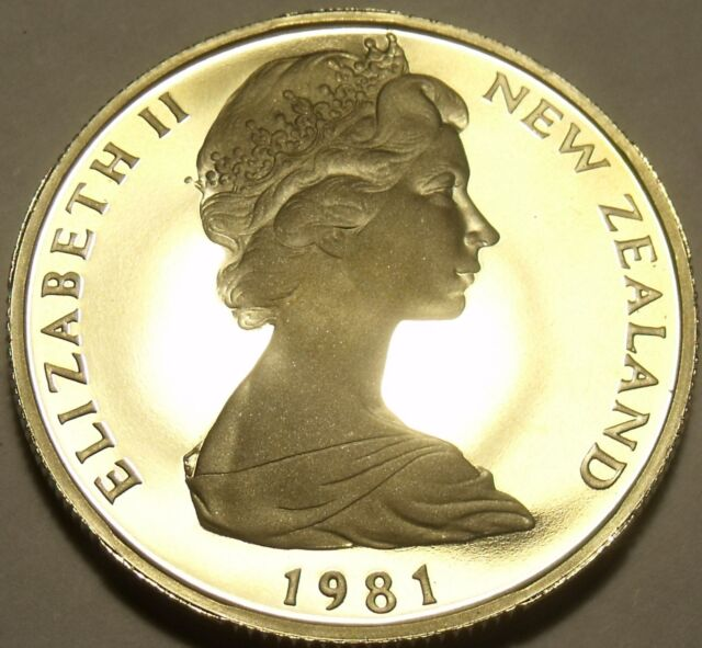 Cameo Proof New Zealand 1981-I 50 Cents~18,000 Minted~Proofs R Best~Free Ship