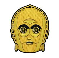 C3-po Head Iron-on Patch Star Wars Character Embroidered Craft Apparel Applique