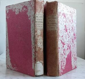 1799 Año VII De Me de Houlieres N. Édit. 2 Tomos Pin 1 Frontispicio ABE