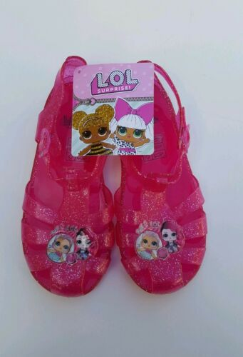 Girls LOL surprise summer Jelly Sandals.Beach Shoes.Size  size 1 Brand New
