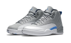 free shipping 7beb5 54b5a Nike Air Jordan 12 2016 Wolf Sneakers - Size 12, Grey/University Blue