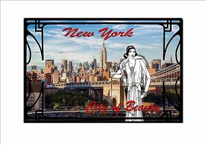 New York City Art Deco Style Metal Wall Plaque Vintage Deco Style ...