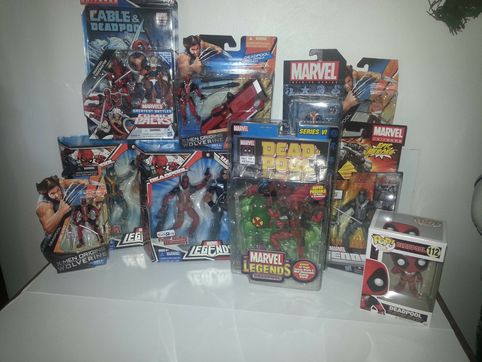 Marvel Legends NEW - DEADPOOL LOT - RARE POP  Variants Warpath 3.75