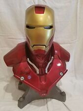 """SIDESHOW SIGNED By """"STAN LEE"""" IRON MAN Life SIZE BUST Mark III  STATUE Avengers"""