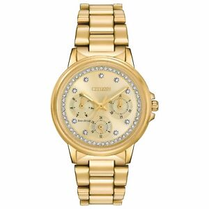 Citizen Eco-Drive Silhouette Women's FD2042-51P Refurbished Gold-Tone 36mm Watch