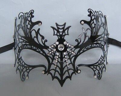 Black Filigree Metal Venetian Party Masquerade Mask No.2 Express Post
