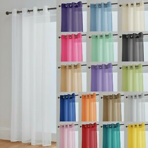 Voile Curtains With Eyelet Ring Top Heading - Net Voile Curtain - Lucy Panel