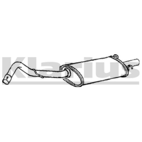 End Silencer Exhaust For NISSAN Petrol 1x KLARIUS OE Quality Replacement Rear