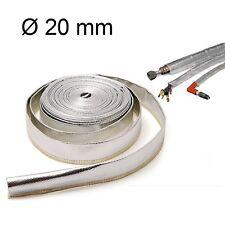1m Hitzeschutzschlauch 20mm Kabelschutz Hitzeschutz Fiberglas Alu Heat Sleeve