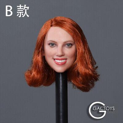 "GACTOYS GC033D 1//6 Scarlett Head Sculpt for 12/"" Female Figure Phicen Body"