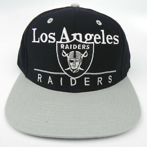 af7901667a738c LOS ANGELES OAKLAND RAIDERS NFL VTG 2-TONE BAR SNAPBACK CAP HAT NEW ...