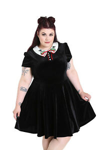 553a5ba4b4 Image is loading Hell-Bunny-Plus-Size-Gothic-Wednesday-Addams-Poison-