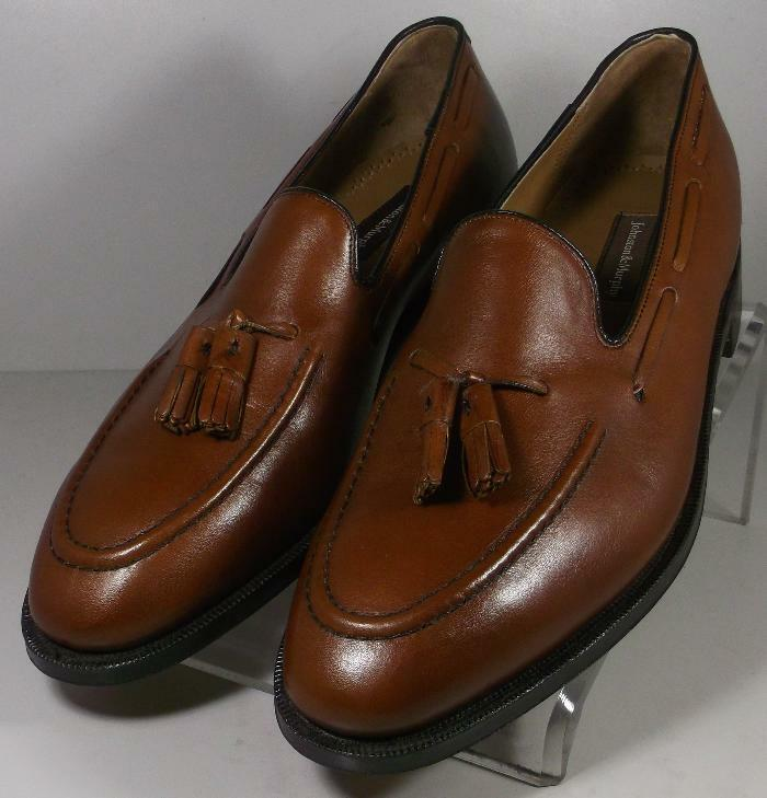 2493632 PF50 Chaussures Hommes Taille 9 m en Cuir Marron À Enfiler Johnston & Murphy
