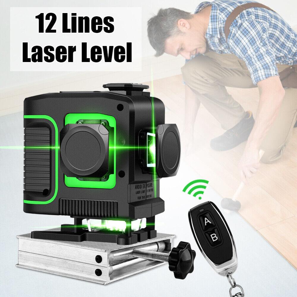 360° Laser Level Self Leveling redary Green Cross Line Horizontal greenical Tool