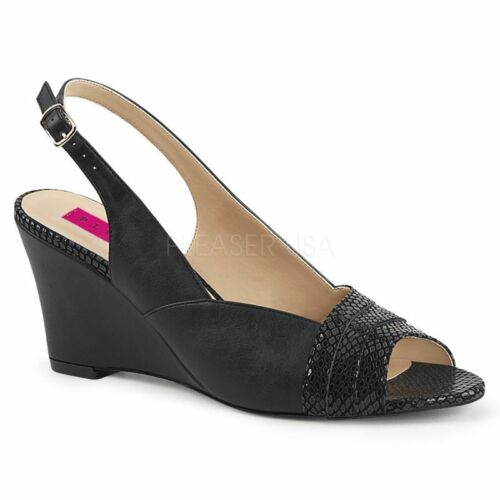 Summer Pink Slingback Label Kimberly Office Evening Peeptoe Black 01sp Pleaser PFvzqww