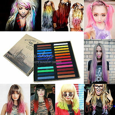 24 Colors Fashion Hot Fast Non-toxic Temporary Hair Chalk Dye Soft Pastel DIY