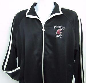 3acc33298435 Image is loading Champion-Washington-State-Cougars-Black-Striped-Athletic- Track-