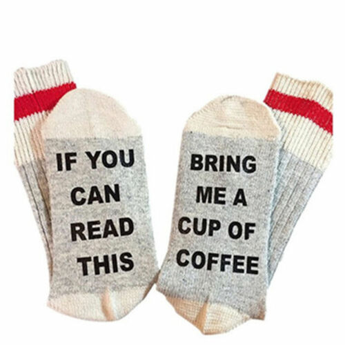 Unisex Unique Soft socks If You can read this Bring Me a Glass of Wine//Chocolate