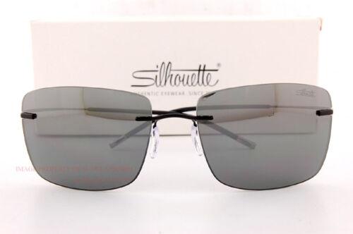New Silhouette Sunglasses TMA ICON 8691 6220 Black//Grey Unisex