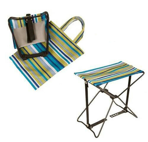 Portable Folding Stool Chair With Carry Bag Suitable Camping Fishing Gardening For Online Ebay