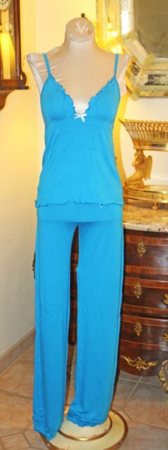 POSH INTIMATES SUPER SOFT TURQUOISE LONG BOTTOMS XL / XXL