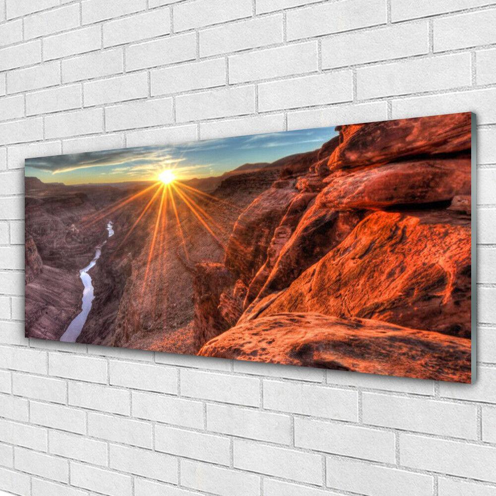 Acrylglasbilder Wandbilder aus Plexiglas® 125x50 Sonne Wüste Landschaft