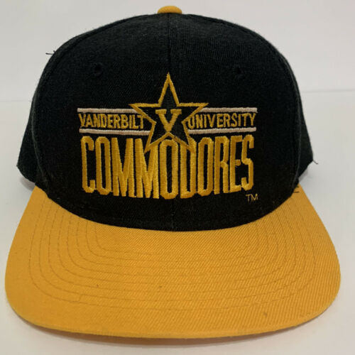Vtg Vanderbilt University Commodores Cap Hat Snapb